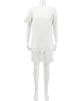 Burberry Lace And Silk Shift Dress In Natural White, Brand Size 8 (US Size 6)