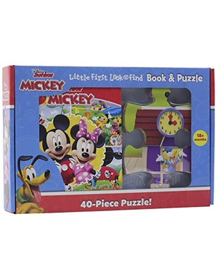 Disney Junior Mickey Mouse - Little First Look and Find Activity Book and Puzzle Set - PI Kids