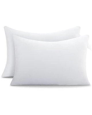 Acanva Bed Pillows for Sleeping 2 Pack with Luxury Hotel Quality, Super Plush 3D Fiber Filling, Top-end Cover for Side Stomach Back Sleepers, King-Pack of 2, White/Polyester Microfiber