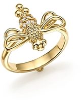 Temple St. Clair 18K Yellow Gold Resting Bee Diamond Ring