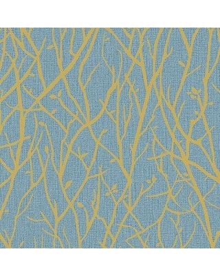 """Millwood Pines Maura Branches 33' L x 21"""" W Wallpaper Roll NJQO2244 Color: Slate"""