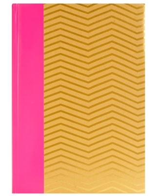 3 Up Pink and Gold Craft Chevron Photo Album, Set of 4