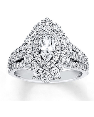 Neil Lane Engagement Ring 1-3/4 ct tw Diamonds 14K White Gold