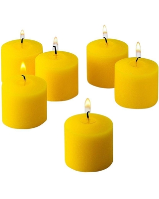 Light In The Dark 10 Hour Citronella Yellow Votive Candle (Set of 72)