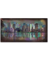 'Houston' by Ellicia Amando Ready to Hang Canvas Wall Art, Multi-Colored
