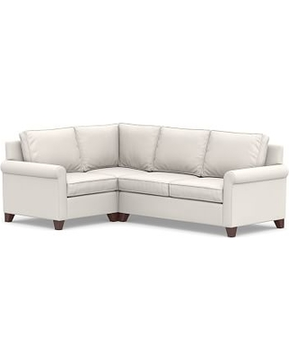Cameron Roll Arm Upholstered Right Arm 3-Piece Corner Sectional, Polyester Wrapped Cushions, Sunbrella(R) Performance Chenille Salt