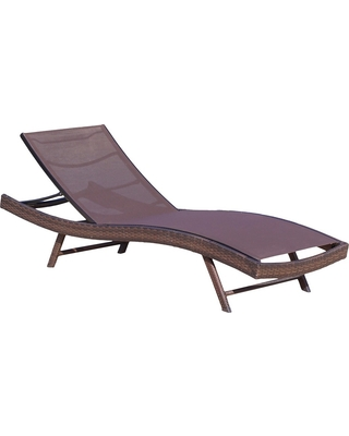 Kauai All-Weather Synthetic Mesh Patio Chaise Lounge - Brown - Christopher Knight Home