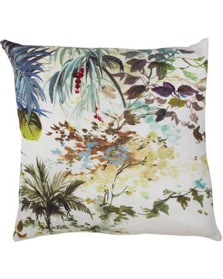 Bay Isle Home Clearfield Tropical Tree Linen Throw Pillow BYIL5783