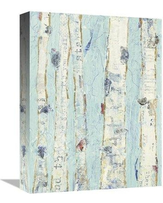"""East Urban Home 'Far From Blue II' Print ESUM6483 Size: 16"""" H x 12"""" W Format: Wrapped Canvas"""