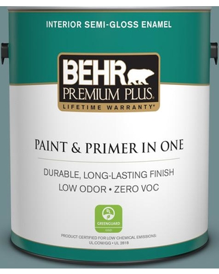 Spectacular Deals On Behr Premium Plus 1 Gal Ppf 46 Leisure Time Semi Gloss Enamel Low Odor Interior Paint And Primer In One