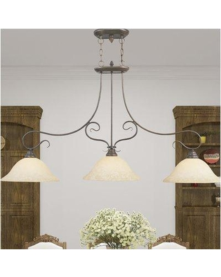 Darby Home Co Lewisboro 3-Light Kitchen Island Pendant DBYH1935 Finish: Imperial Bronze