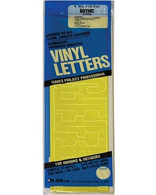 """Graphic Products Permanent Adhesive Vinyl Letters (95/pkg), 4"""", Yellow"""