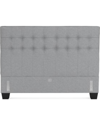 Fairfax Low Headboard Only, Queen, Perennials Performance Canvas, Charcoal