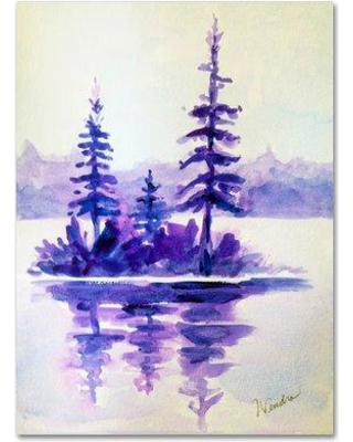 """Trademark Art 'Purple Island' by Wendra Painting Print on Wrapped Canvas WL040-C Size: 47"""" H x 35"""" W x 2"""" D"""