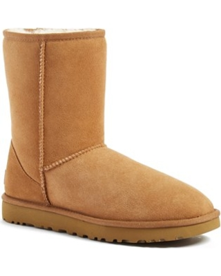 Women's Ugg Classic Ii Genuine Shearling Lined Short Boot, Size 8 M - Brown