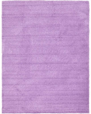 Unique Loom Solid Shag Lilac 10 ft. x 13 ft. Area Rug, Purple