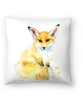 Americanflat 'Baby Fox' Throw Pillow (16 x 16)