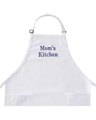 Personalized Any Message Embroidered White Apron, Available In Different Font's
