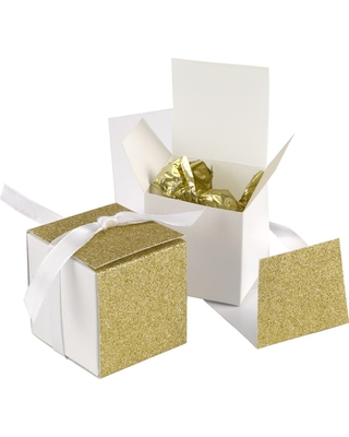 25ct Favor Boxes Gold, Gift Boxes