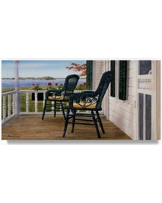 """Trademark Art 'Wicker and Lace' Oil Painting Print on Wrapped Canvas ALI21304-C Size: 16"""" H x 32"""" W"""