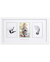Pearhead® Babyprints 3-Opening 4-Inch x 6-Inch Picture Frame in Grey