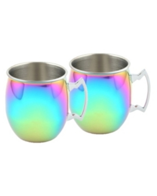 Thirstystone by Cambridge 2 Pack of Rainbow Moscow Mule Mugs, 20 Oz