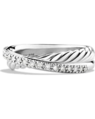 Women's David Yurman 'Crossover' Ring With Diamonds