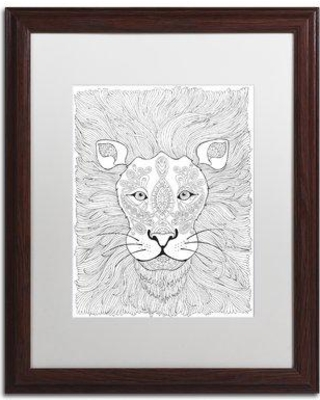 """East Urban Home 'Animals VII' Framed Graphic Art ETRB1513 Size: 20"""" H x 16"""" W x 0.5"""" D Matte Color: White"""
