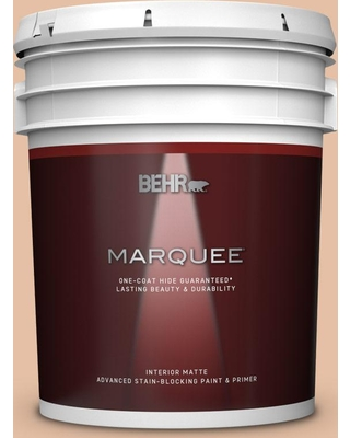 BEHR MARQUEE 5 gal. #BIC-01 Fabulous Fawn Matte Interior Paint & Primer