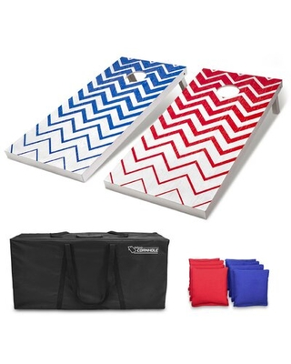 2' x 4' Solid + Manufactured Wood Cornhole Board with Carrying Case GoSports
