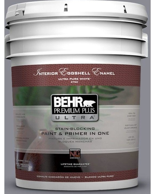 BEHR ULTRA 5 gal. #ECC-23-2 Heather Field Eggshell Enamel Interior Paint and Primer in One