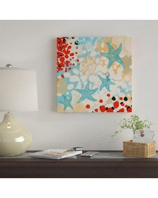 """East Urban Home 'Exotic Sea Life I' Graphic Art Print on Canvas EBHT2286 Size: 18"""" H x 18"""" W x 0.75"""" D"""