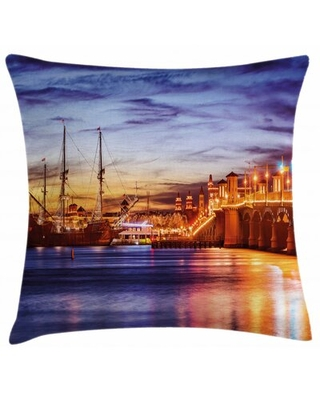 """Indoor / Outdoor 28"""" Throw Pillow Cover East Urban Home"""