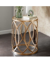 Madison Park Coen Metal End Table, Gold