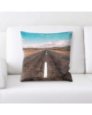 Orben A Road to Many Places Throw Pillow Latitude Run