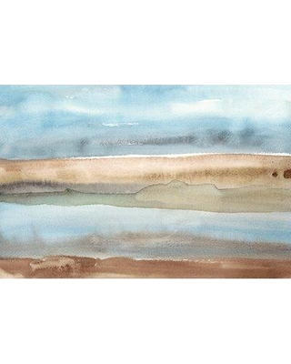 """East Urban Home 'Plein air Riverscape II' Watercolor Painting Print on Canvas ETUB7663 Size: 12"""" H x 18"""" W x 0.75"""" D"""