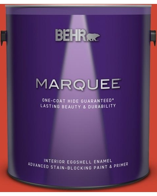 BEHR MARQUEE 1 gal. #180B-7 Chili Pepper Eggshell Enamel Interior Paint and Primer in One