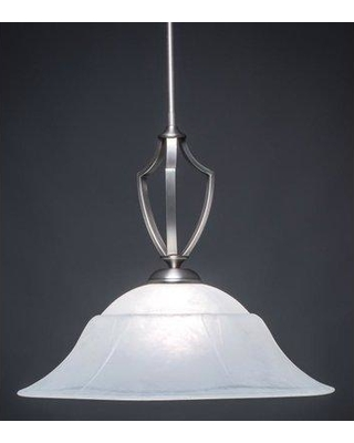 Red Barrel Studio Couto 1-Light Bowl Pendant RBSD1507 Base Finish: Graphite