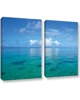 """ArtWall Lagoon & Reef by George Zucconi 2 Piece Painting Print on Wrapped Canvas Set 0zuc006b Size: 24"""" H x 36"""" W x 2"""" D"""