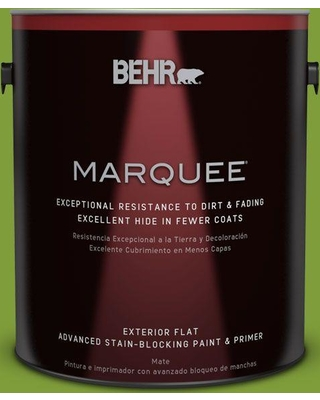 BEHR MARQUEE 1 gal. #T14-18 New Shoot Flat Exterior Paint and Primer in One