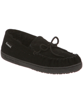 BEARPAW Women's Moccasins BLACK - Black Mindy Suede Slipper - Women