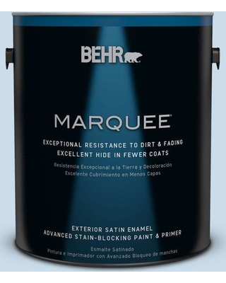 BEHR MARQUEE 1 gal. #M510-1 Blue Me Away Satin Enamel Exterior Paint and Primer in One