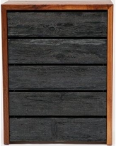 ARTLESS SQR 5 Drawer Chest A-SQRCD Color: Solid Walnut and Reclaimed Wood
