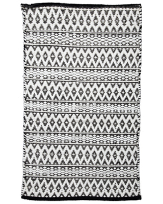 Great Summer Sales On Black White Diamond Chindi Rug 27