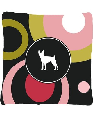 Big Deal On East Urban Home Fox Terrier Indoor Outdoor Throw Pillow Polyester Polyfill Polyester Polyester Blend In Pink Size 14 Below Wayfair