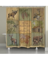 LauralHome Deer and Antelope Shower Curtain DA74SC
