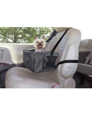 Premier Pet Car Booster Seat for Small Dogs - Keeps Your Dog Secure and Reduces Driver Distraction - Adjustable to Fit Any Seat with Headrests