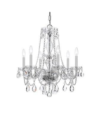 Crystorama Traditional Crystal 6-Light Polished Chrome Traditional Crystal Chandelier | 5086-CH-CL-SAQ