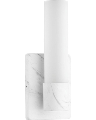Progress Lighting Blanco 16-Watt Faux White Marble Integrated Led Sconce