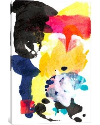 """East Urban Home 'Paint Bloom I' Painting Print on Canvas EAUU1401 Size: 26"""" H x 18"""" W x 0.75"""" D"""